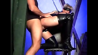 Hot blonde beside chains wildly fucked
