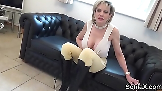 Unfaithful english mature gill ellis shows her monster knockers
