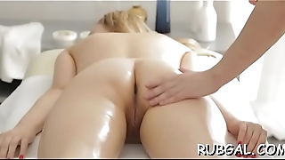 Sexy gf is getting team-fucked doggy position by her partner
