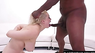 Black Daddy throating his slut deep