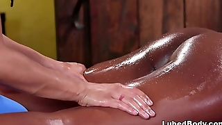 Kira Noir and Daya Knight massaging each other