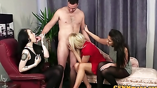 CFNM femdom sucking and deepthroating