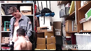 Straight Jock Shoplifter Fucked By Gay Twink Security Guard After Being Caught Stealing A Pregnancy Test