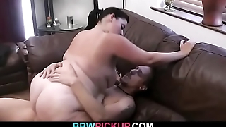 Fat ass bbw gf gives head and rides his cock